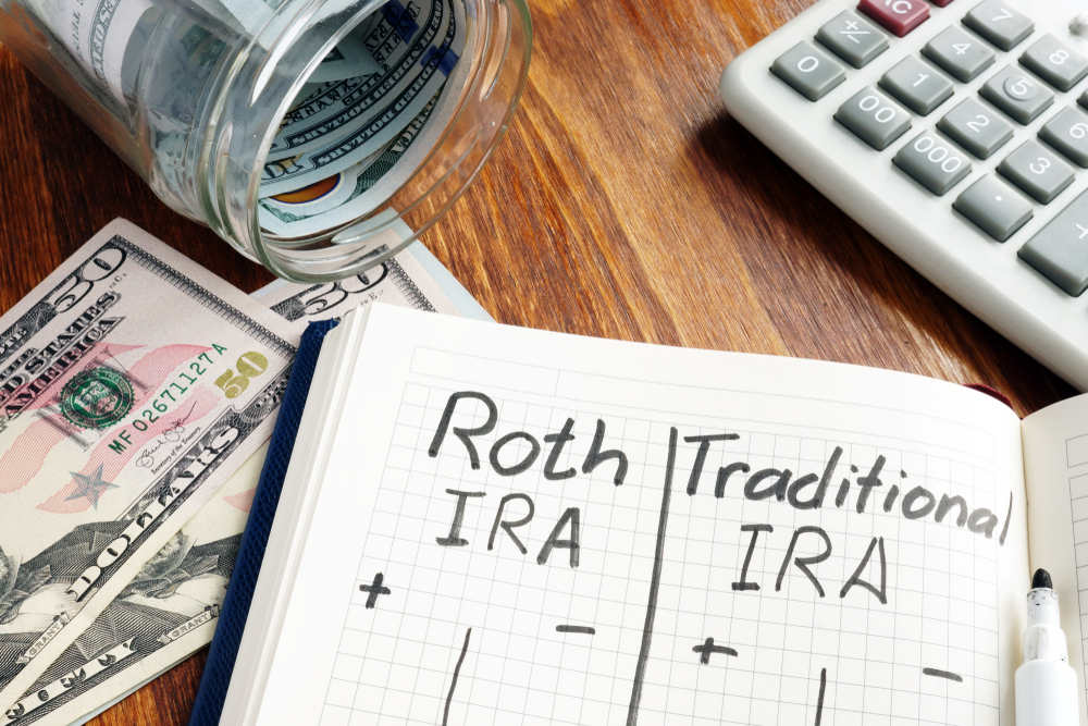 Roth,Ira,Vs,Traditional,Ira,Written,In,The,Notepad.